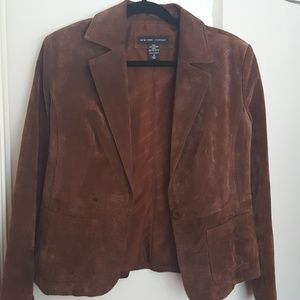 NY&C suede blazer, size 8